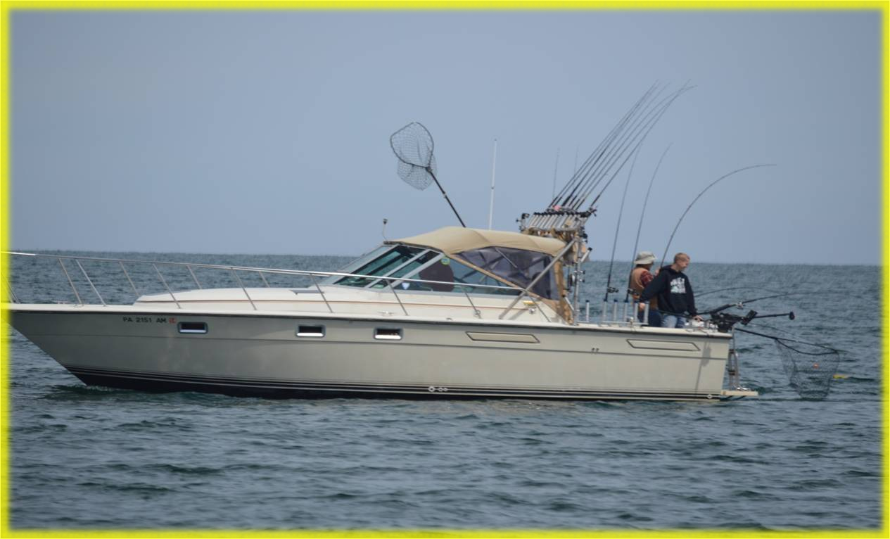 sport fishing on lake erie PA for walleye