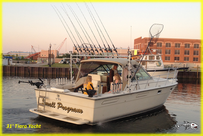 lake erie PA walleye fishing charter boat