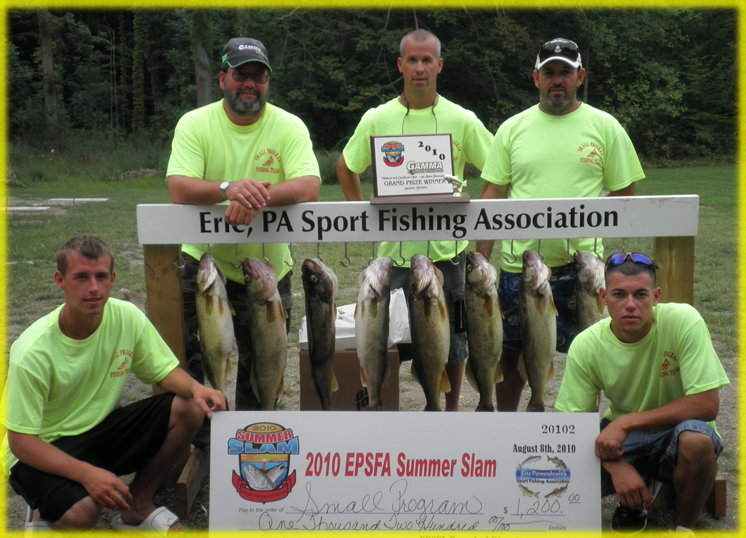 lake erie PA walleye fishing tournament winning team